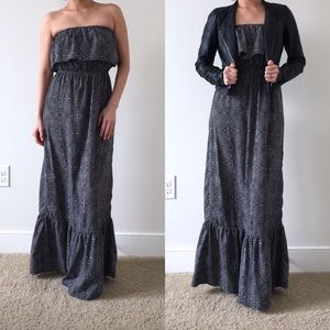 One Clothing   Geometric Strapless Maxi Dress